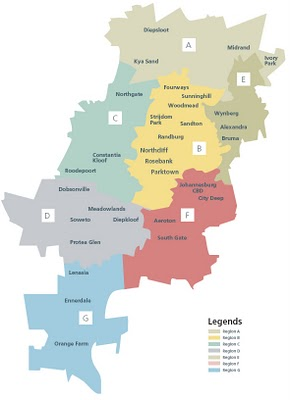 Jhb Regions New Map